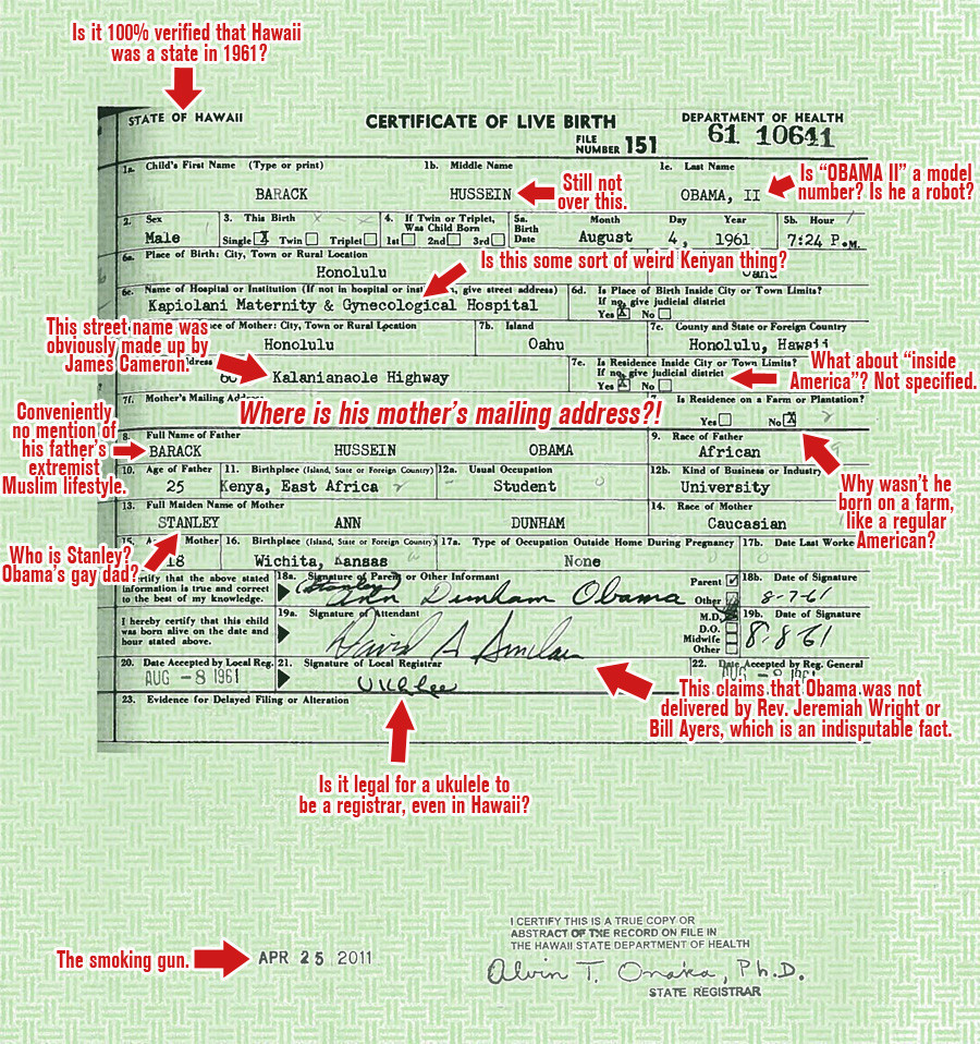 How A Birther Views Obamas Birth Certificate The Ashford Zone